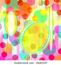 colorful background with transparent oval colored shapes