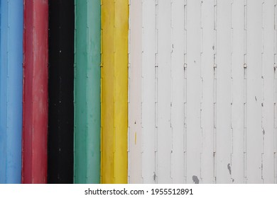 colorful background.muticolor door of house
