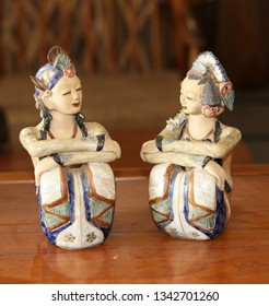 Colorful bali couple