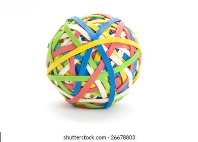 Colorful ball of many bands