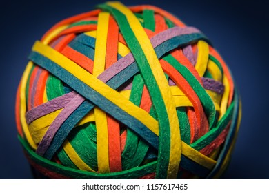 Colorful Ball of Rubberbands