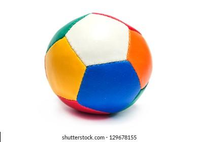 Colorful ball toy isolated on white background