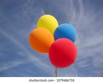 Colorful Ballons Blue Sky