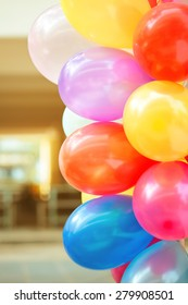 Colorful balloons in children's party