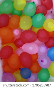 Colorful balloons filled water. Ready for balloon fight