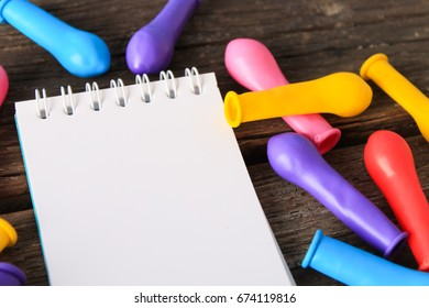 Colorful balloons on birthday,space for text