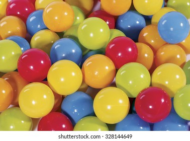 colorful balls in the ball pool