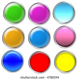 colorful balls isolated