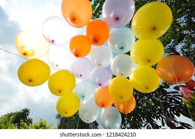colorful of balon