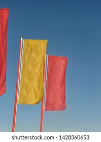 Colorful banners in the wind