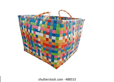 colorful basket (with clipping path)