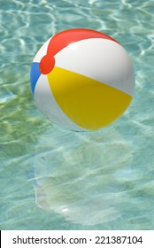 Colorful Beach Ball Isolated On White/ Beach Ball Time