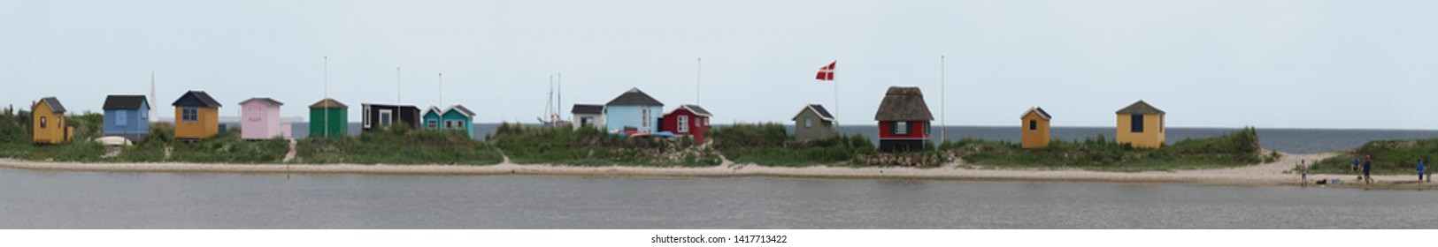 colorful beach houses  aero danmark