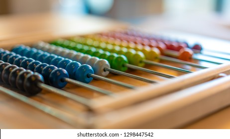 Colorful Beads Abacus For Basic Counting Maths
