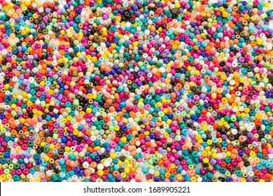 colorful beads on the white background.