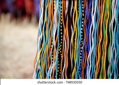 Colorful beads skirt