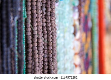 Colorful Beads. String of beads in various colors. Colorful beads necklaces. Handicraft fashionable for women.Gem Stone Ready to Prepare Handmade Jewels