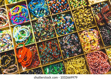 colorful beads, typically made from plastic material