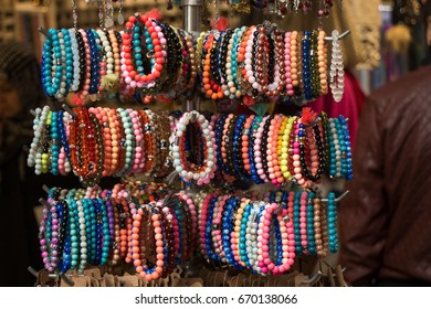 Colorful beads of various color