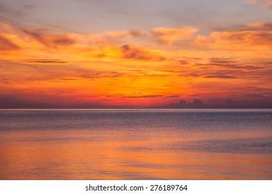 colorful before Sunrise at Sunshine Paradise Resort, Thailand