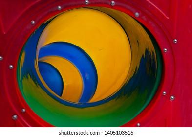 colorful big slider in playground
