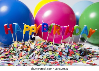 colorful birtday decoration