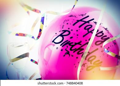 colorful birthday motive