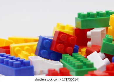 Colorful blocks in a white backgound