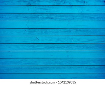 Colorful blue wood boards background texture
