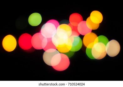 colorful blur Bokeh background