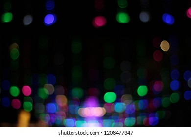 colorful blurry christmas bokeh background dark space halloween lights backdrop abstract new year party