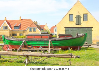 Colorful Boat in DragØr, Denmark