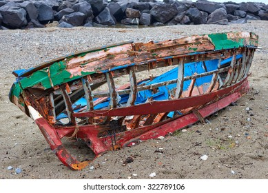 colorful boat wreck