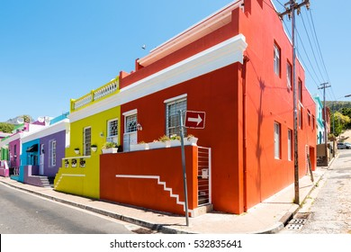 Colorful Bo-Kaap area of Cape Town, South Africa