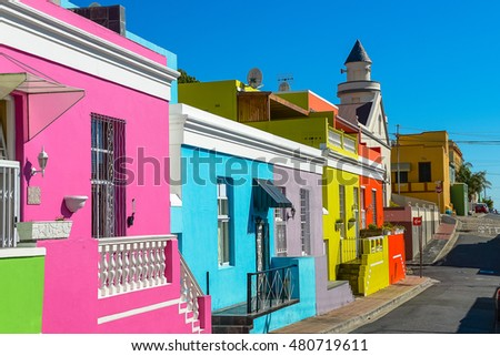 Colorful Bo-Kaap area of Cape Town
