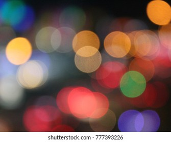 Colorful bokeh abstract background. Christmas festival