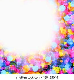 Colorful bokeh background.