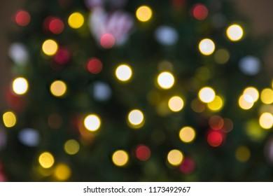colorful bokeh christmas background - Blurry Christmas Lights