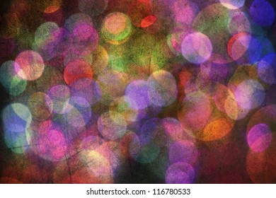 Colorful bokeh grunge background texture