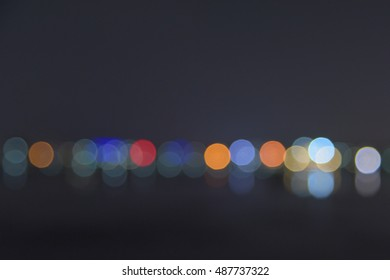Colorful bokeh of the lake in Korea