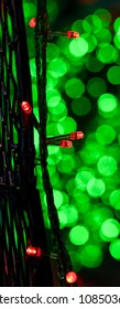 Colorful Bokeh light background, Christmas light decoration with defocused