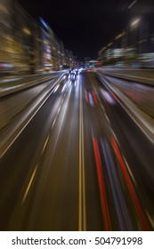 colorful bokeh light from night traffic