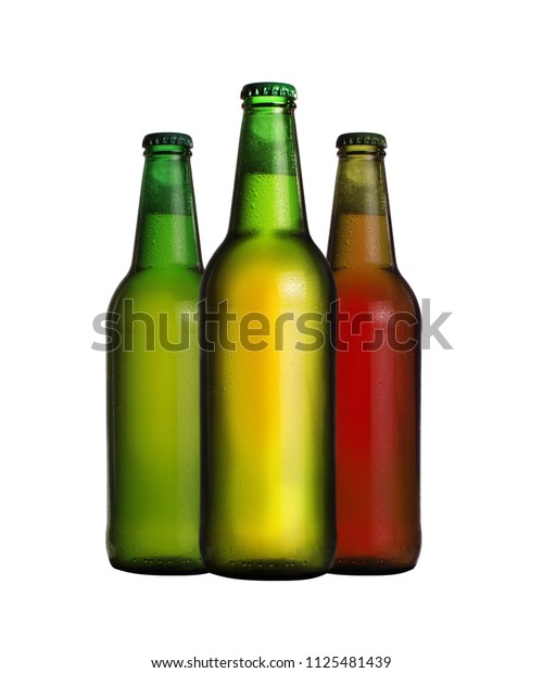colorful bottles with beer