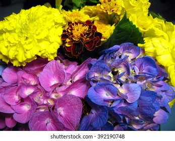 A colorful  bouquet of flowers A colorful composition of different wild flowers