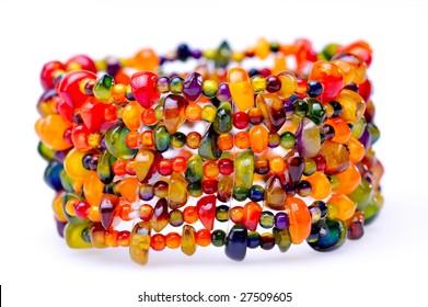 colorful bracelet isolated on white background