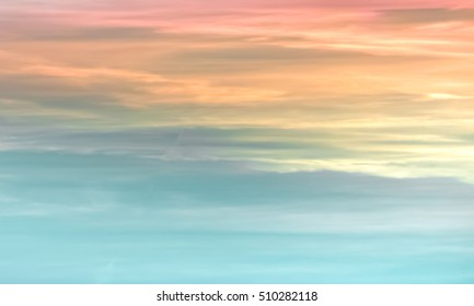 Colorful bright background with blue, teal, green, yellow, orange, pink and red colors. Shades of rainbow. Hues of sunset sky