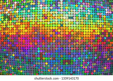 Colorful bright background. The colored circles. Free space. Convex art background