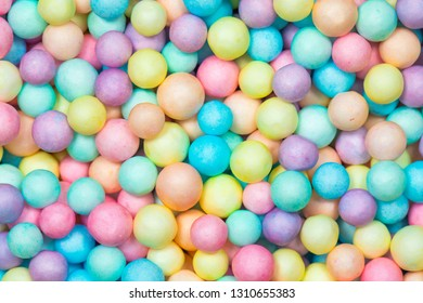 Colorful bright background, multi-colored balls. Sweet nice background candy.