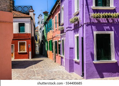 Colorful bright street