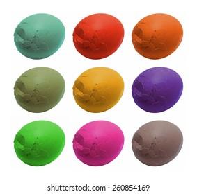 Colorful  broken Easter eggs